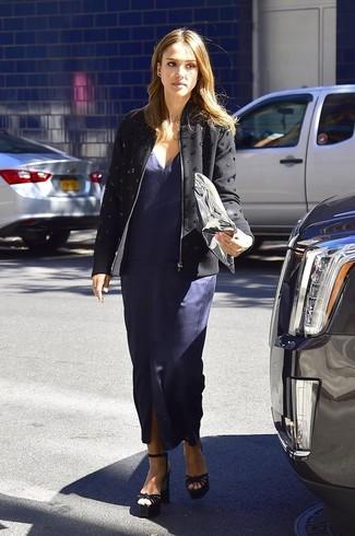 Lookastic Vestito Come Indossare Donna Un Blu Scuro399 FotoModa qzMUSVp