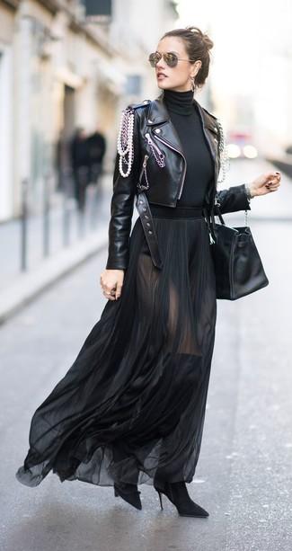 fcc96085fb Come indossare una gonna lunga di chiffon (26 foto) | Moda donna ...