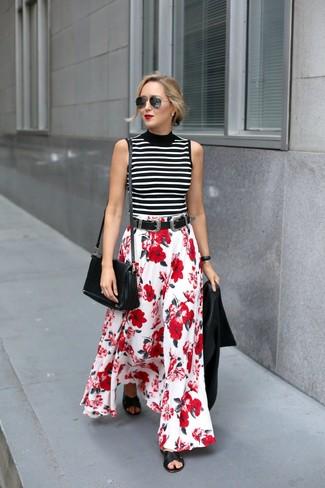 c941006a81 Come indossare una gonna lunga rossa e bianca (18 foto) | Moda donna ...