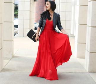 donna moda Giacca alla Abito Look moto nera pelle in da da per wdItUxU5q