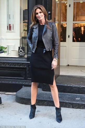 3a2f2481f38b Come indossare un vestito di maglia nero (63 foto)