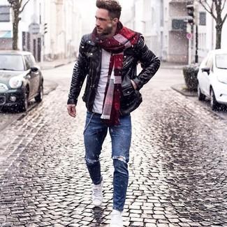 una Come nera in foto Moda pelle indossare uomo giacca 282 ZwCqwfn5