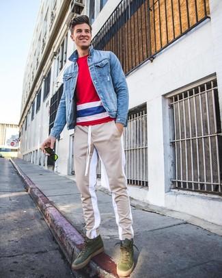 brand new 79479 a8fae Come indossare e abbinare una giacca di jeans azzurra (118 ...