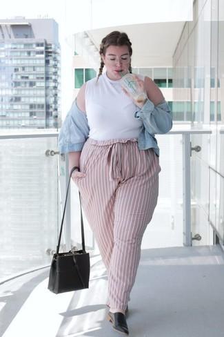 huge selection of adc8d b746f Look alla moda per donna: Giacca di jeans azzurra, Dolcevita ...