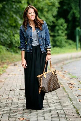 Giacca di jeans blu scuro di Benetton