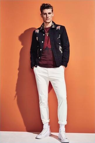 fdefb358b7dea ... Look alla moda per uomo  Giacca di jeans nera