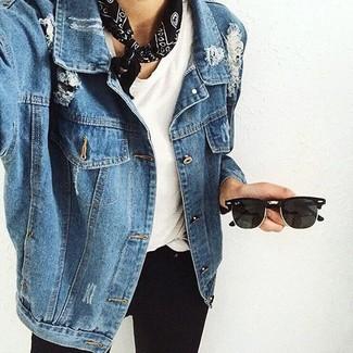 Giacca di jeans blu di Cache Cache