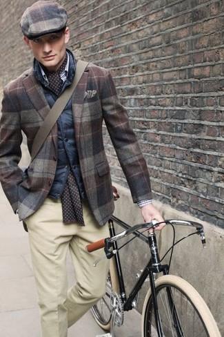 Come indossare una coppola scozzese marrone (6 foto)  099043c40c1f