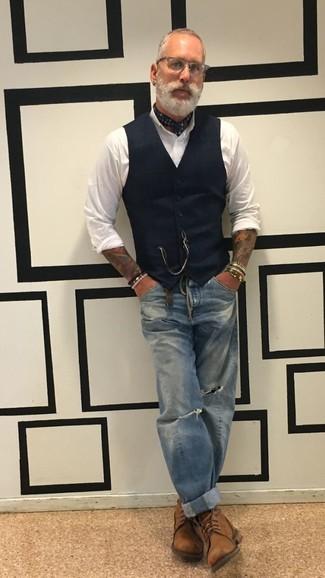 ... Look alla moda per uomo  Gilet nero ba1d1e93429