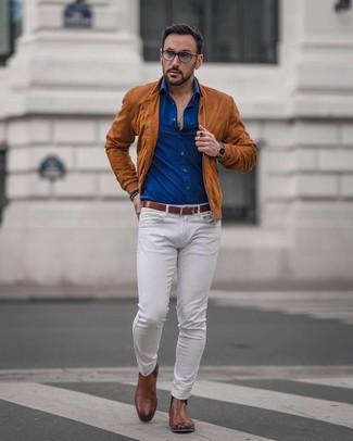 Come indossare e abbinare una cintura in pelle marrone con