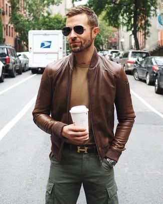 outlet store 9143a 2bf03 Come indossare e abbinare una giacca in pelle marrone (122 ...