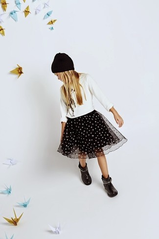 Gonna in tulle nera