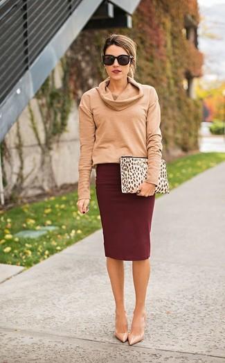 buy popular 506d9 dc711 Look alla moda per donna: Maglione con scollo a cappuccio ...