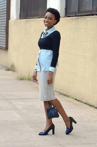 Look Moda Per Di Maglione Donna Jeans Nero Corto Camicia Alla r5nO1Pxr