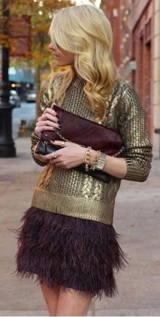 vari colori 1b31f 4ed31 Look alla moda per donna: Maglione girocollo dorato ...