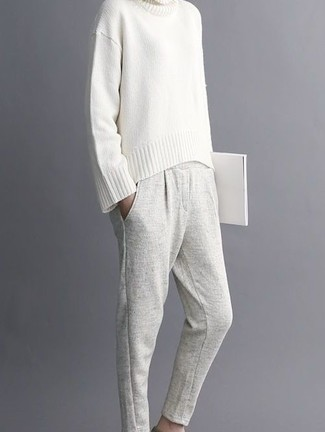 43996ef8f678 Pochette in pelle bianca di Tara Zadeh, €586 | farfetch.com | Lookastic