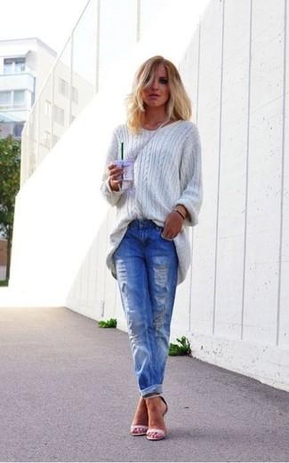 Look alla moda per donna Maglione oversize grigio d160fc9dc65