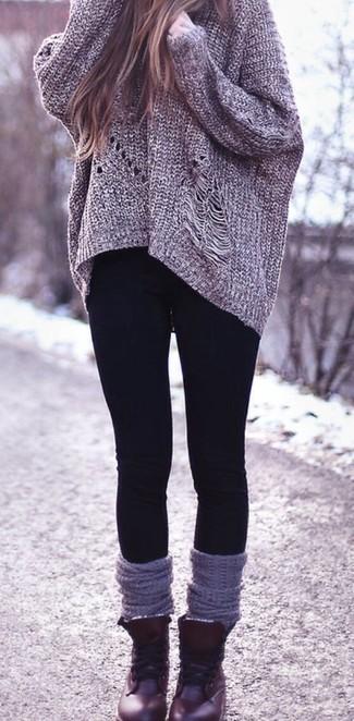 new styles b9742 66c5b Look alla moda per donna: Maglione oversize lavorato a ...
