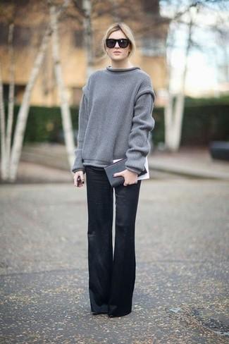 Con Grigio 5 Pantaloni Un Larghi Oversize Quale Indossare Maglione qtRHOgaw