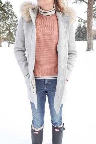 Come indossare un cappotto grigio (511 foto)  0ff24e7211b