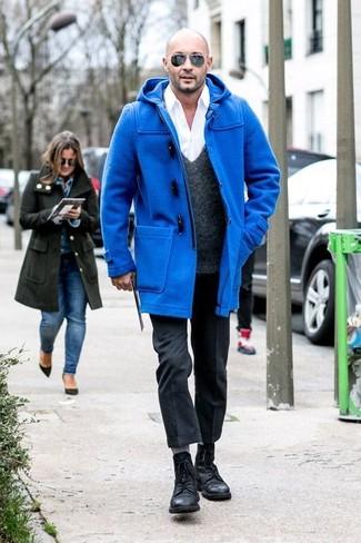 Come indossare un montgomery blu (21 foto)  c879871f377a