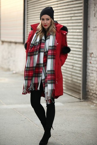 Parka rosso