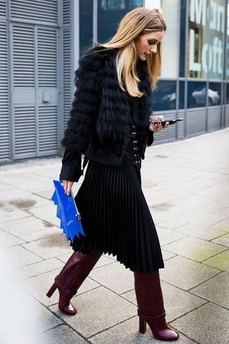 Come indossare  pelliccia corta nero e021af0dbe4