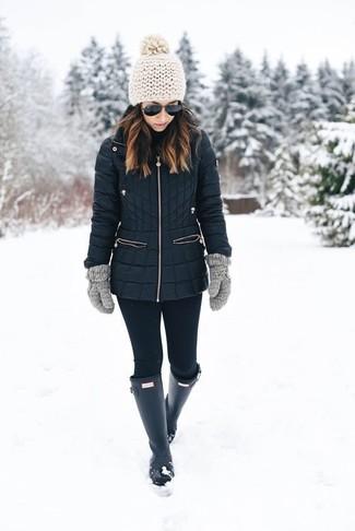 Piumino lungo nero di Calvin Klein Jeans