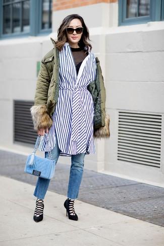 piumino lunga donna outfit