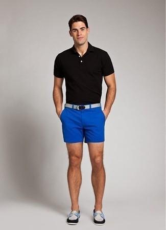 ... Look alla moda per uomo  Polo nero a4bb8552337