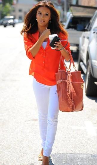 T-shirt arancione di Junarose