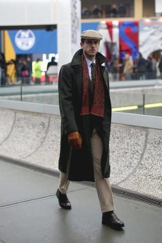 Come indossare una coppola scozzese marrone chiaro (2 foto)  2dc7b13652c3
