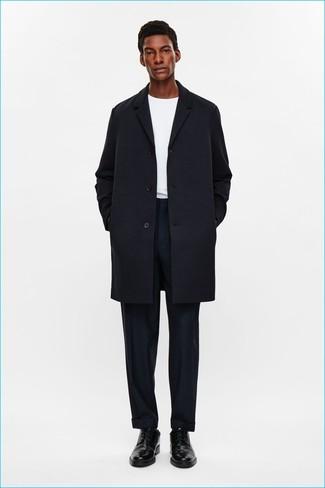 Indossare Nero Un Lookastic Cappotto 412 Moda Uomo Come Foto dtqBnAt