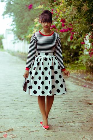 finest selection aebb0 7deea Look alla moda per donna: T-shirt manica lunga a righe ...