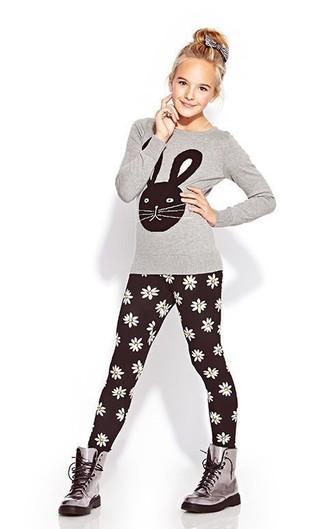 spedizione gratuita 04605 808eb Look alla moda per ragazze: T-shirt manica lunga grigia ...