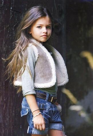 Pantaloncini di jeans blu di Miss Blumarine