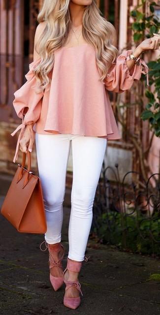 Camicetta rosa di Hilfiger Denim