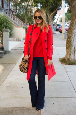 Trench rosso di Only