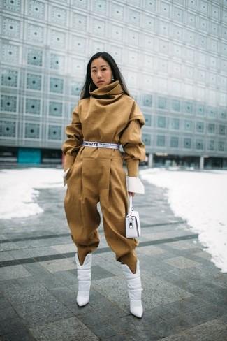 Come indossare e abbinare una tuta con stivali (46 outfit