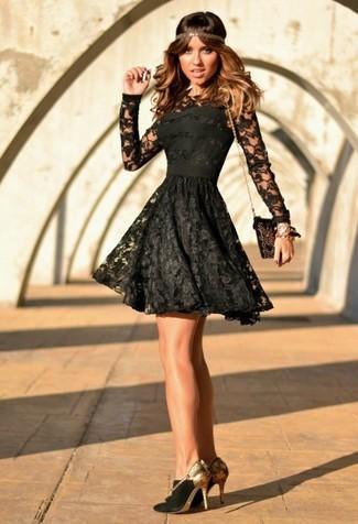 more photos 6584c ea8e7 Come indossare e abbinare un vestito di pizzo nero e bianco ...