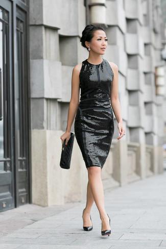 pretty nice 90aa4 652de Look alla moda per donna: Vestito a tubino con paillettes ...