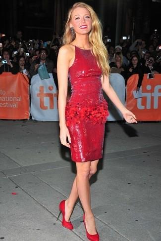 Come indossare Vestito a tubino con paillettes rosso di Jessica Wright a27d8bb3c09