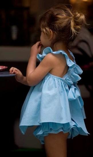 Come indossare: vestito azzurro