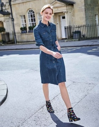 1ec41c65f8b30 Come indossare un vestito chemisier di jeans (13 foto)