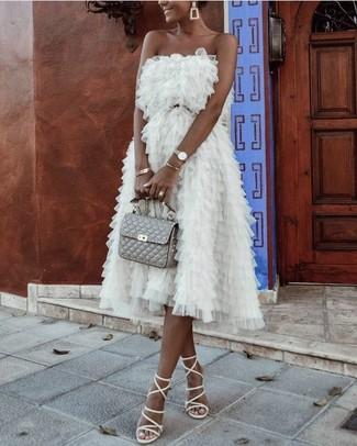 ac156253b9b6 Come indossare  vestito da cocktail in tulle bianco