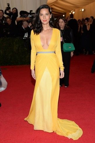 Vestito da sera giallo large 2268