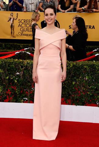 Vestito da sera rosa large 8019