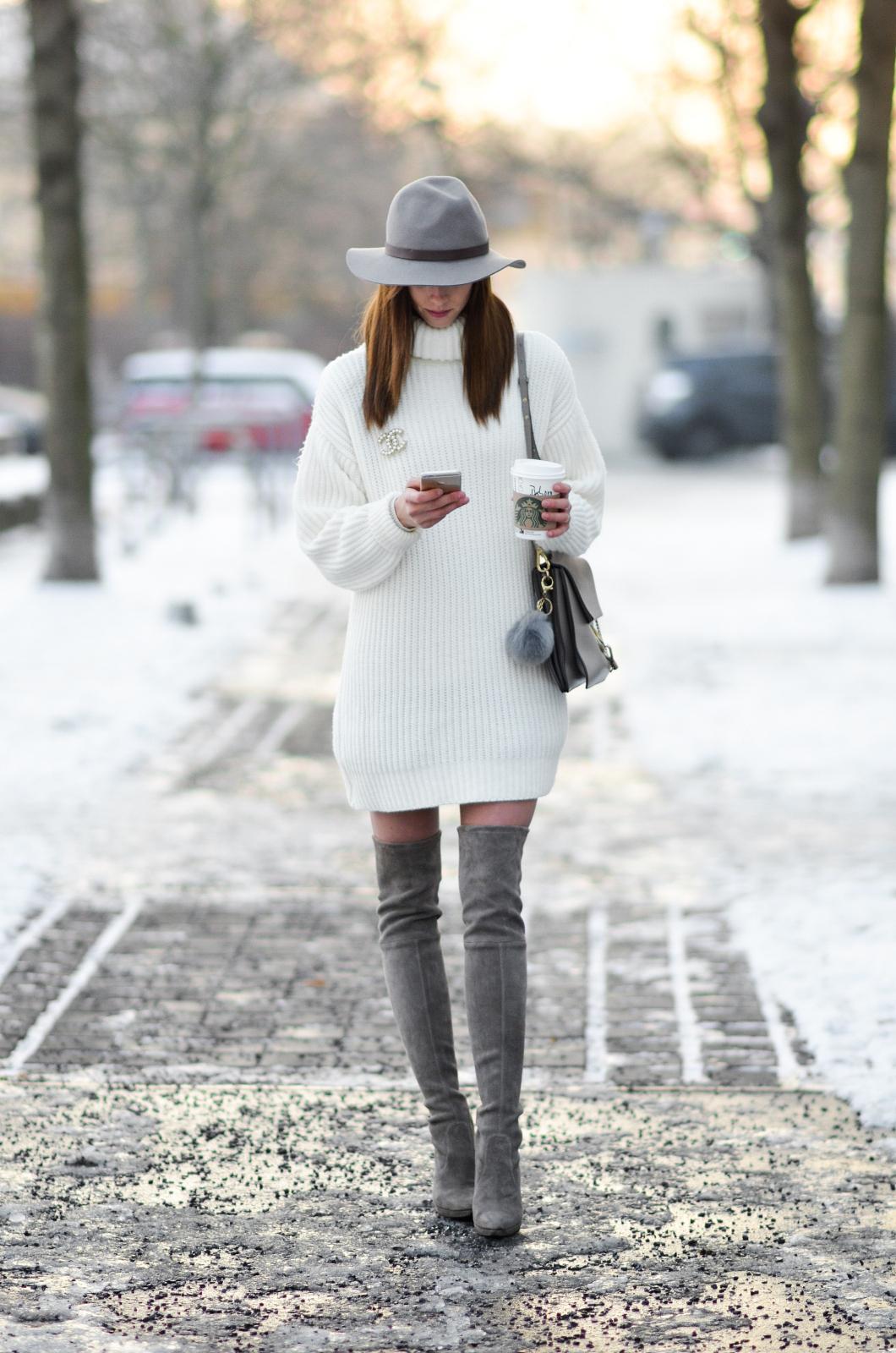 new product a8d67 a8c97 Come indossare e abbinare un vestito di maglia bianco (51 ...