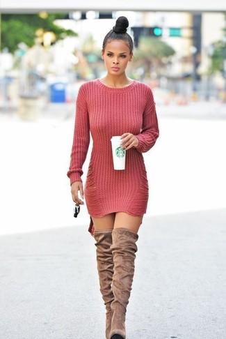 cheap for discount b1ba4 f2eae Look alla moda per donna: Vestito di maglia lavorato a ...