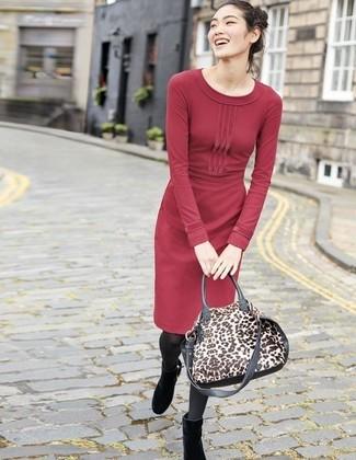 wholesale dealer fc436 c017c Come indossare e abbinare un vestito di maglia bordeaux (22 ...